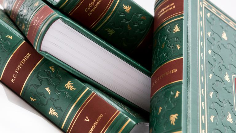Литературная выставка – «Время  читать Тургенева И.С.»